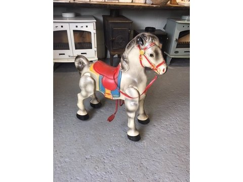 Original childs 1950's - 60's ride on metal horse