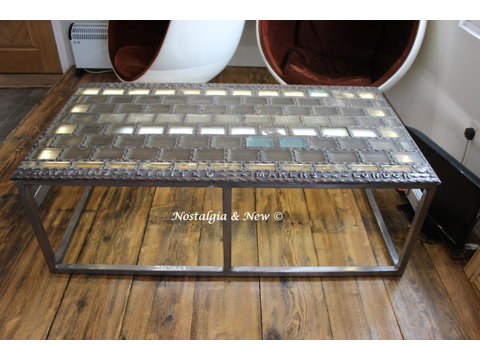Unique Glass Block Pavement lantern Table