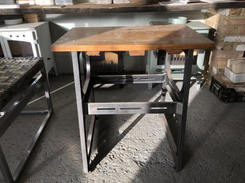 Unique polished cast iron table