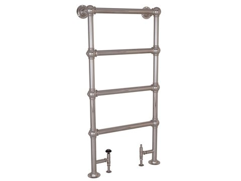 Colossus 4 Bar Nickel Floor Mounted Towel Rail