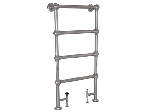 Colossus 4 Bar Chrome Floor Mounted Towel Rail