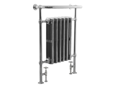 Carron Broughton Bathroom Towel rail Chrome with Radiator