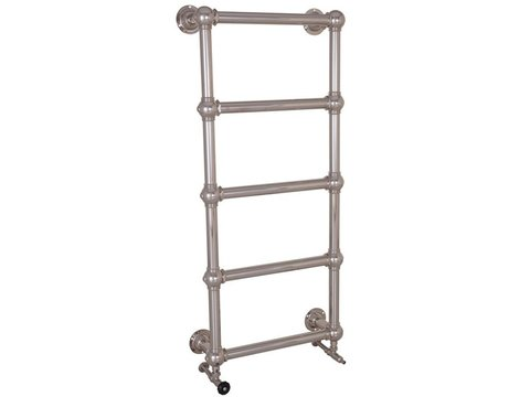 Colossus 5 Bar Nickel Wall Mounted Towel Rail 1300mm high x 500mm wide