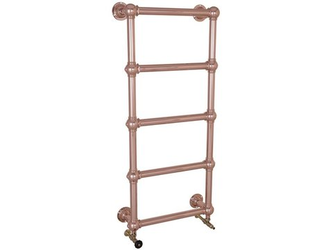COLOSSUS 5 BAR COPPER WALL MOUNTED TOWEL RAIL 1300MM HIGH X 500MM WIDE