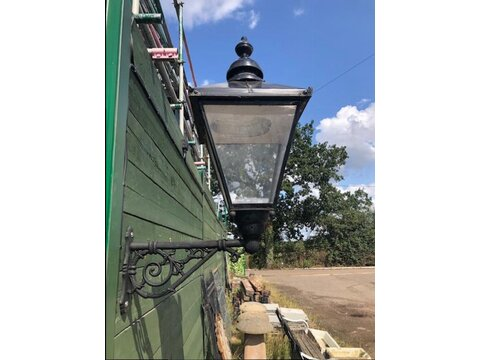 Reclaimed lantern with bracket