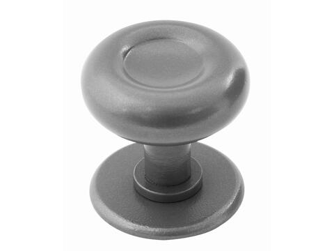Stroud Centre Door Knob Armor Coat Satin Steel