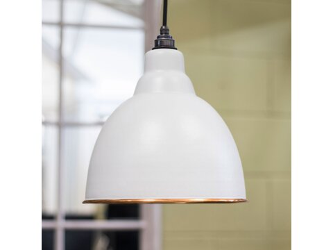 Light Grey And Hammered Brindley Pendant
