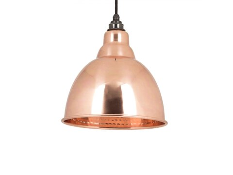 HAMMERED COPPER INTERIOR BRINDLEY PENDANT